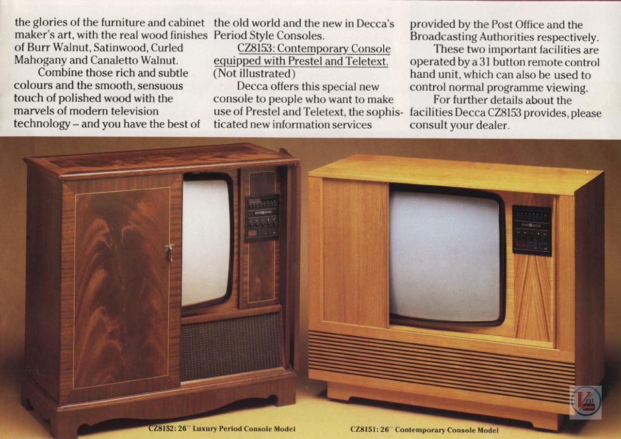 Sony Tv Repair >> Decca - Radios-TV