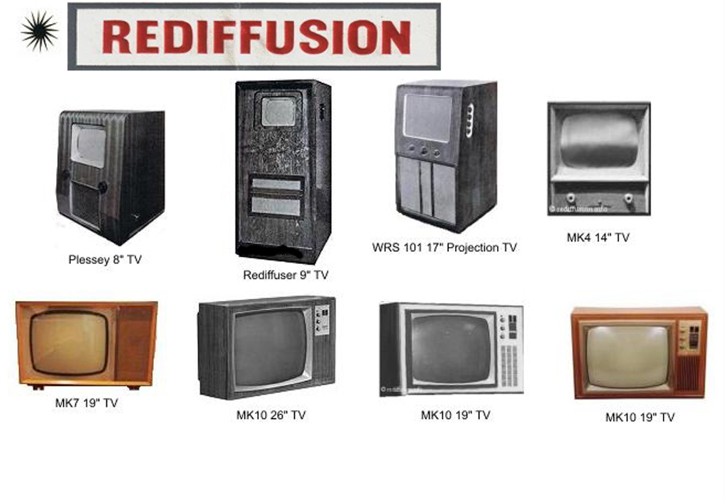 Redifussion B&W TV's 1
