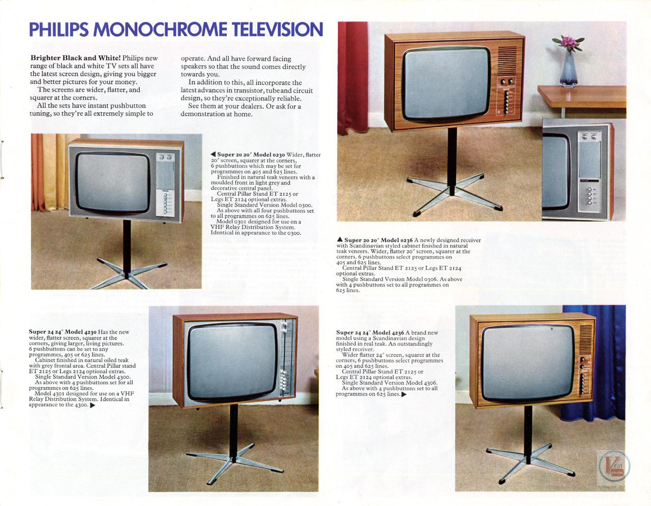 late 60 s early 1970 s philips monochrome sets radios tv. Black Bedroom Furniture Sets. Home Design Ideas