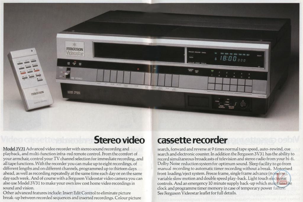 Early 1980s Ferguson Video Recorders Radios Tv