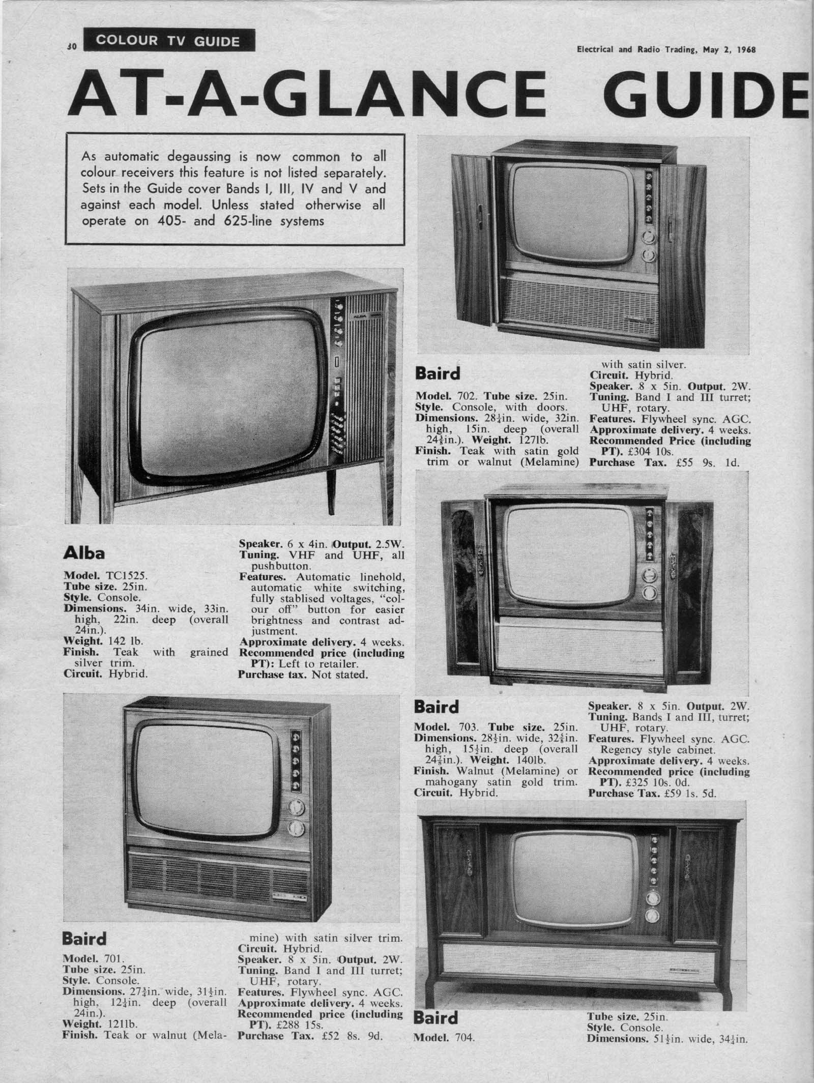 Early Colour TV Prices – Radios-TV