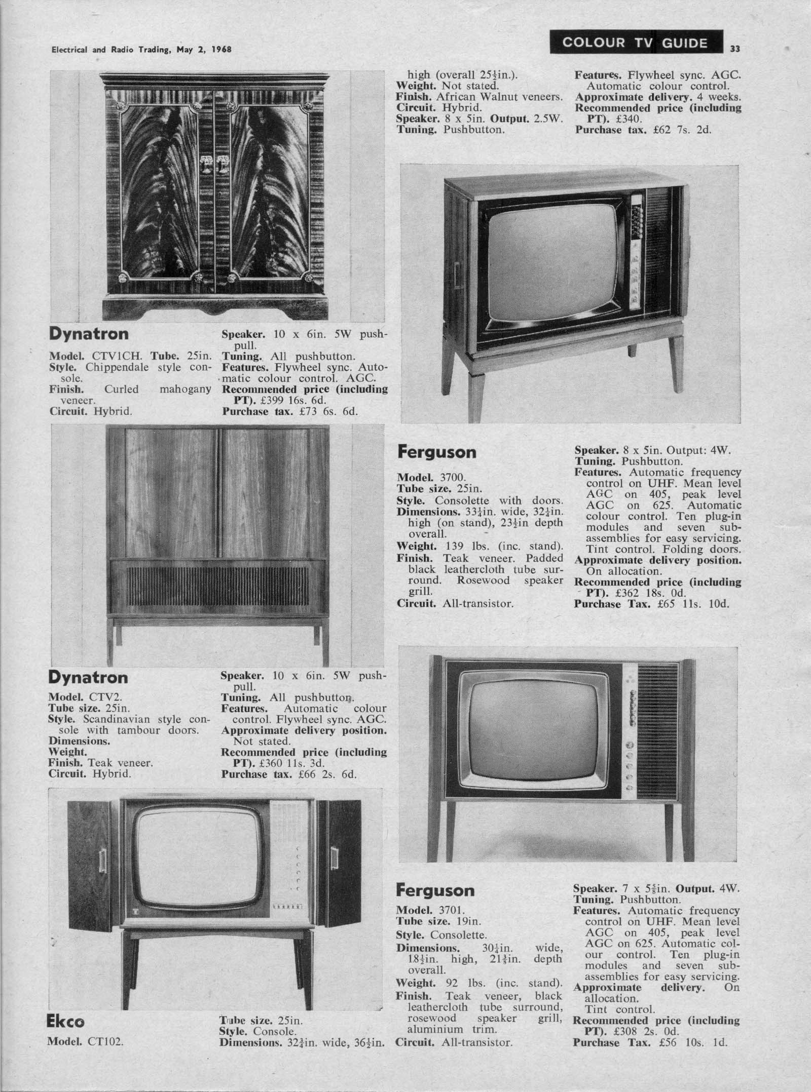 Early Colour Tv Prices Radios Tv