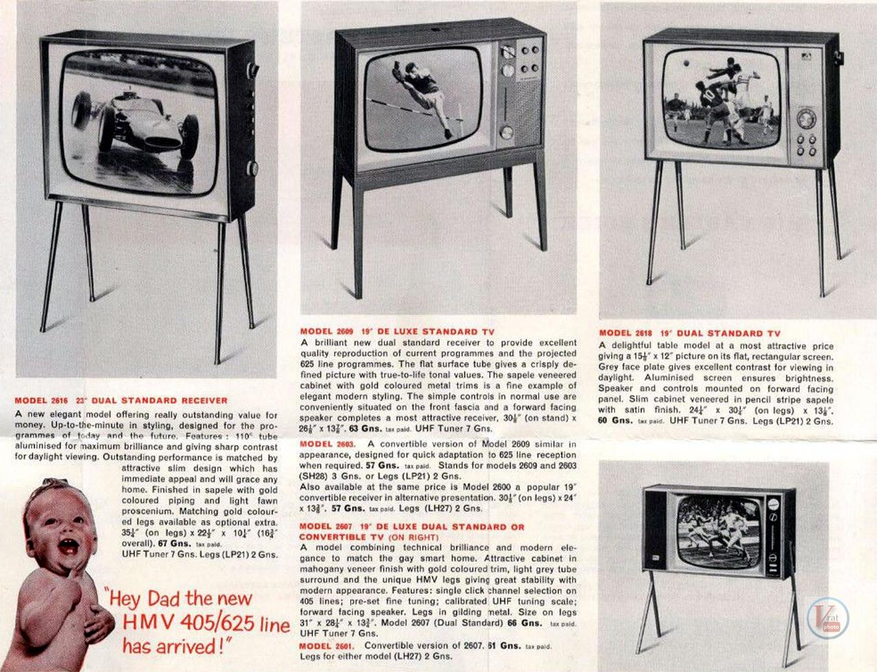 HMV B&W TV's 70