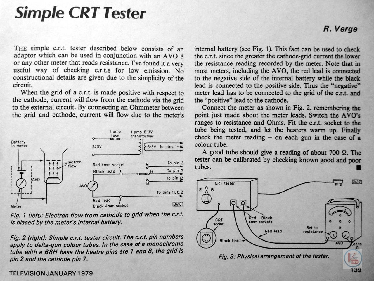Build a Simple CRT Tester 1