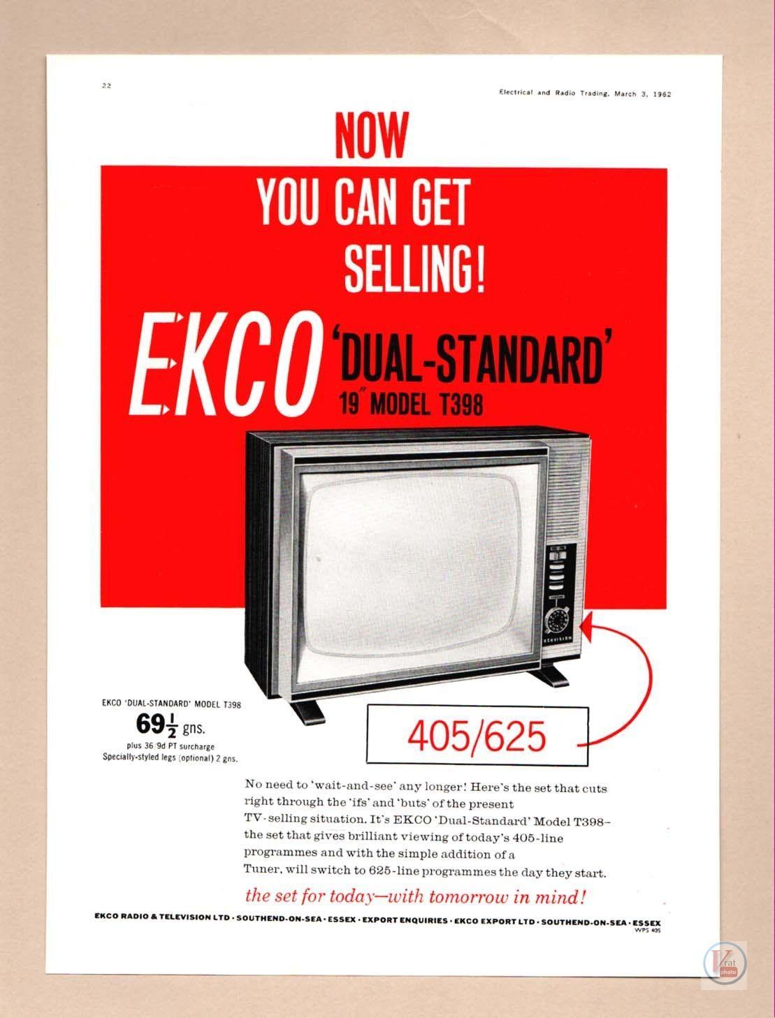 B&W TV Set Ad's 11