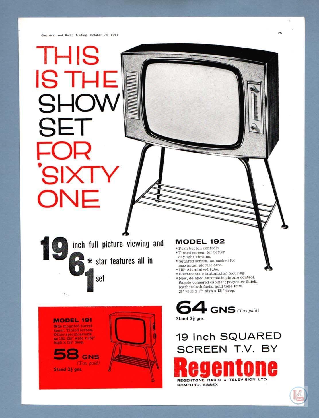 B&W TV Set Ad's 4