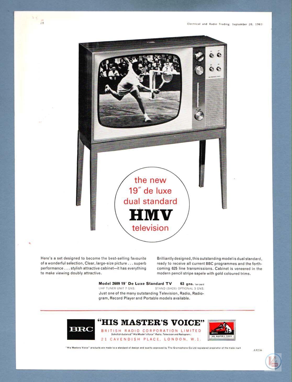 B&W TV Set Ad's 7