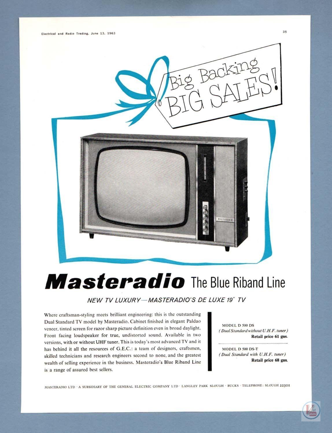 B&W TV Set Ad's 9