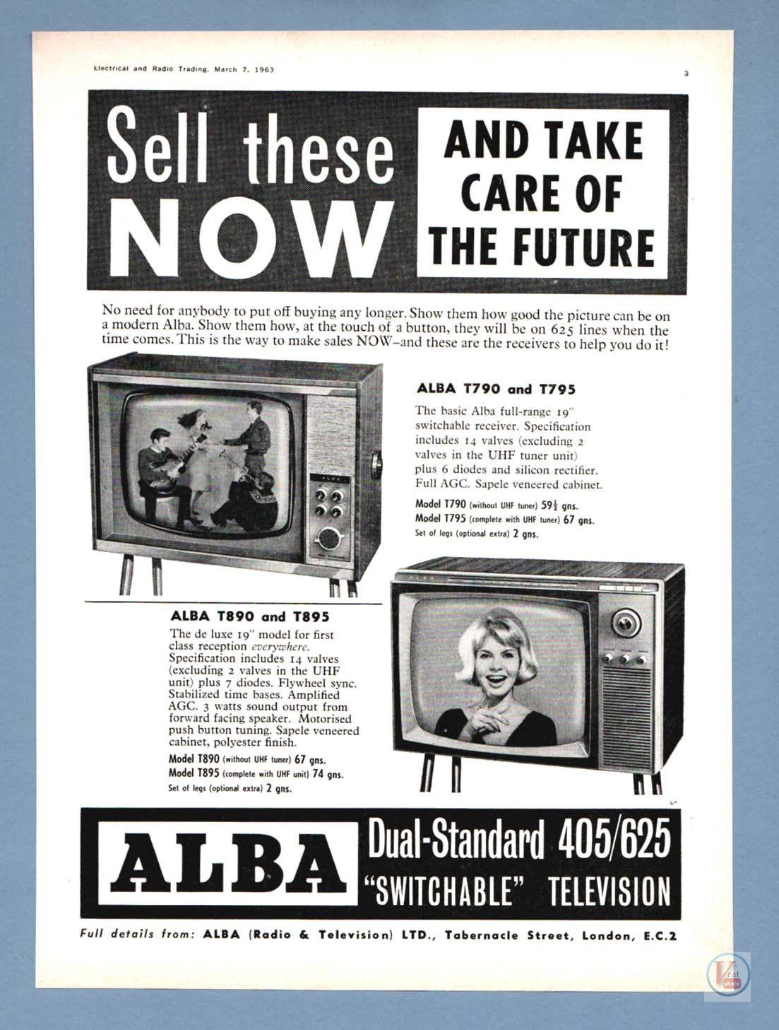 Alba Black & White TV's 1