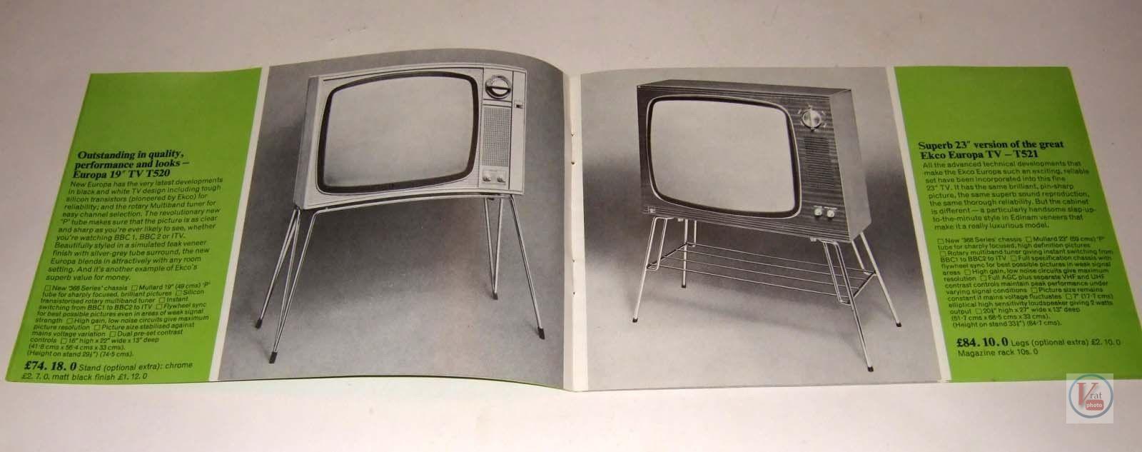 EKCO B&W TV's 63