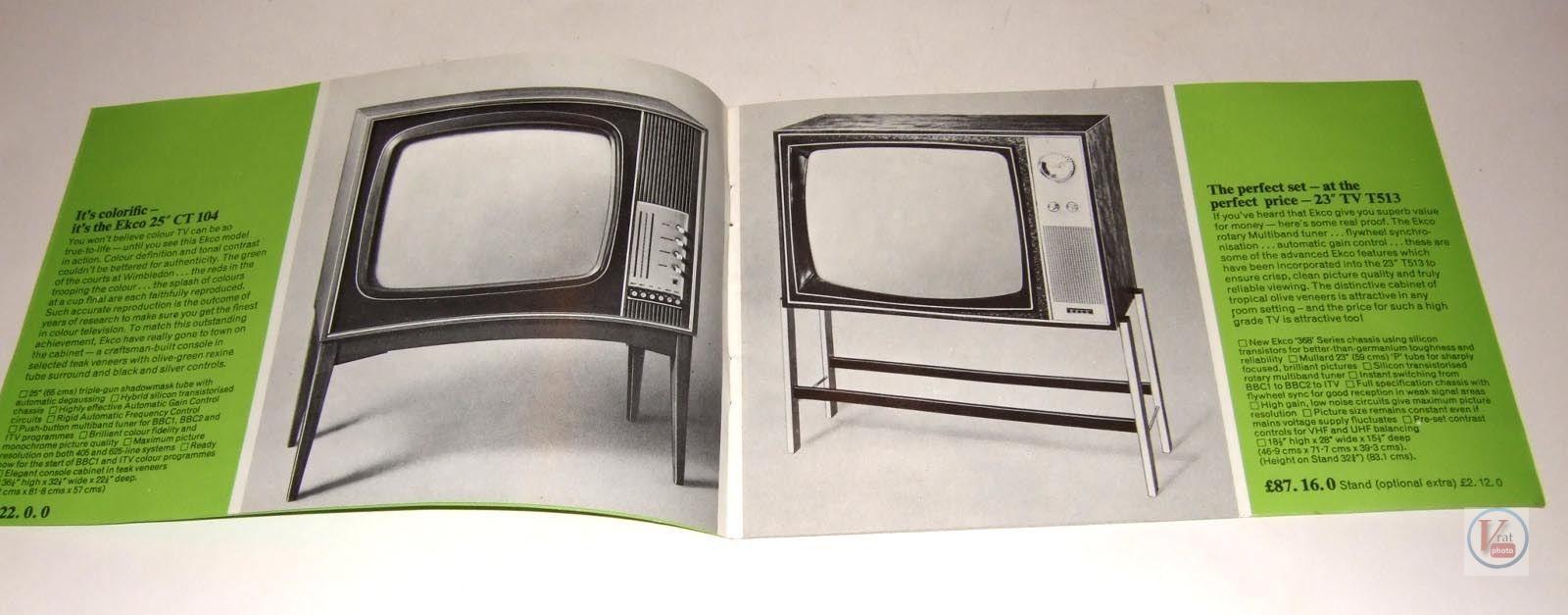 EKCO B&W TV's 64