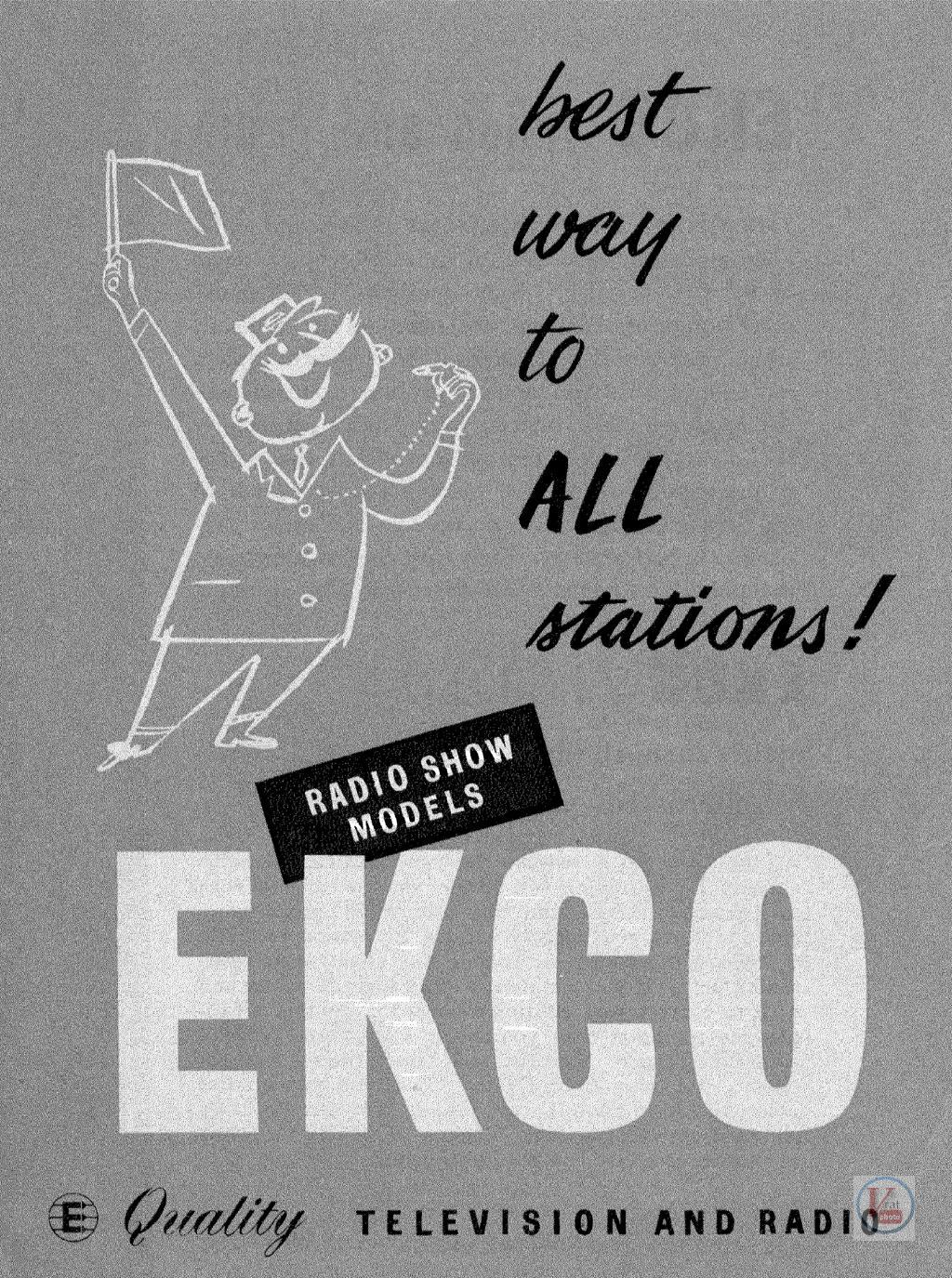 EKCO B&W TV's 49