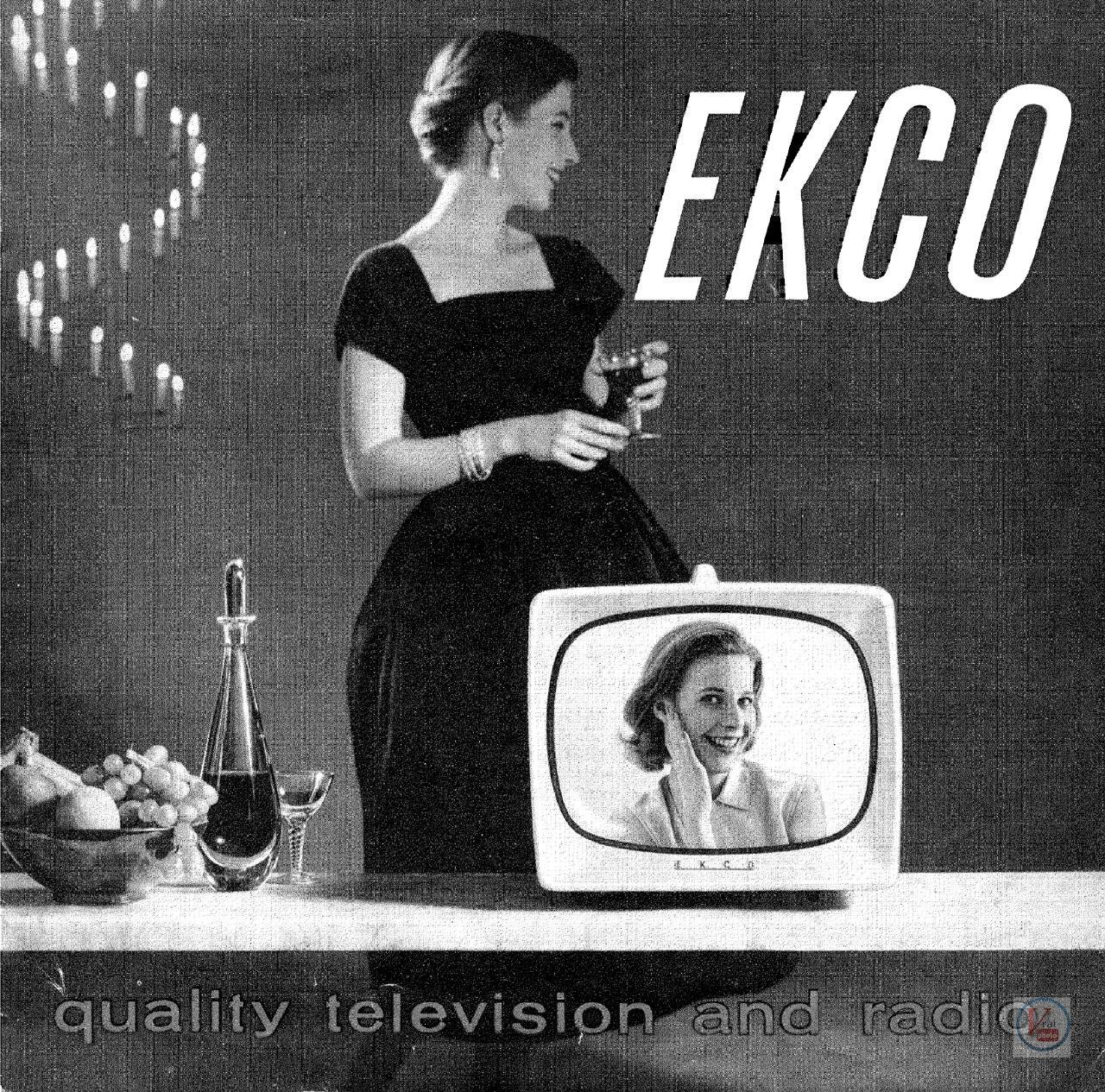 EKCO B&W TV's 58