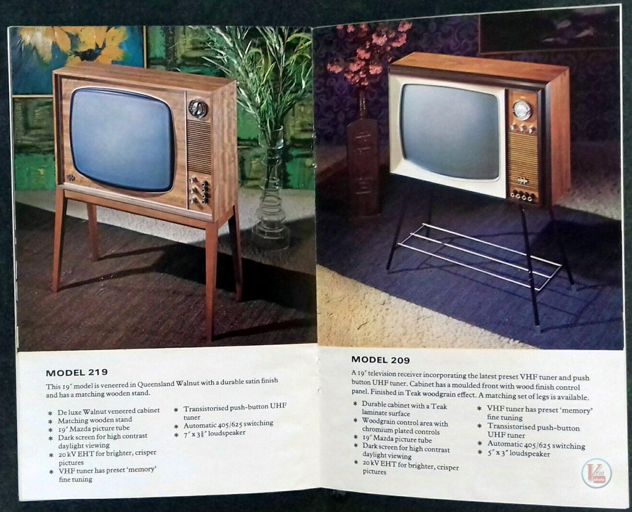D|E|R B&W TV's 10