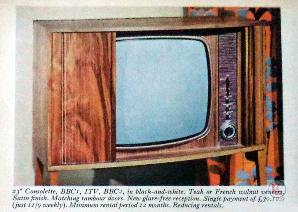 Radio Rentals B&W TV's 1