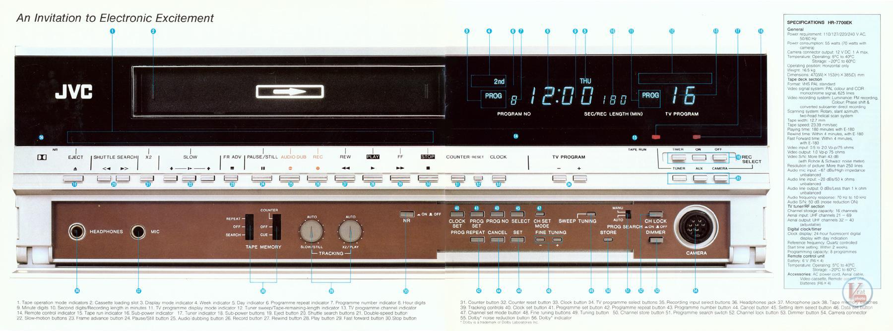 JVC Video Recorders 38