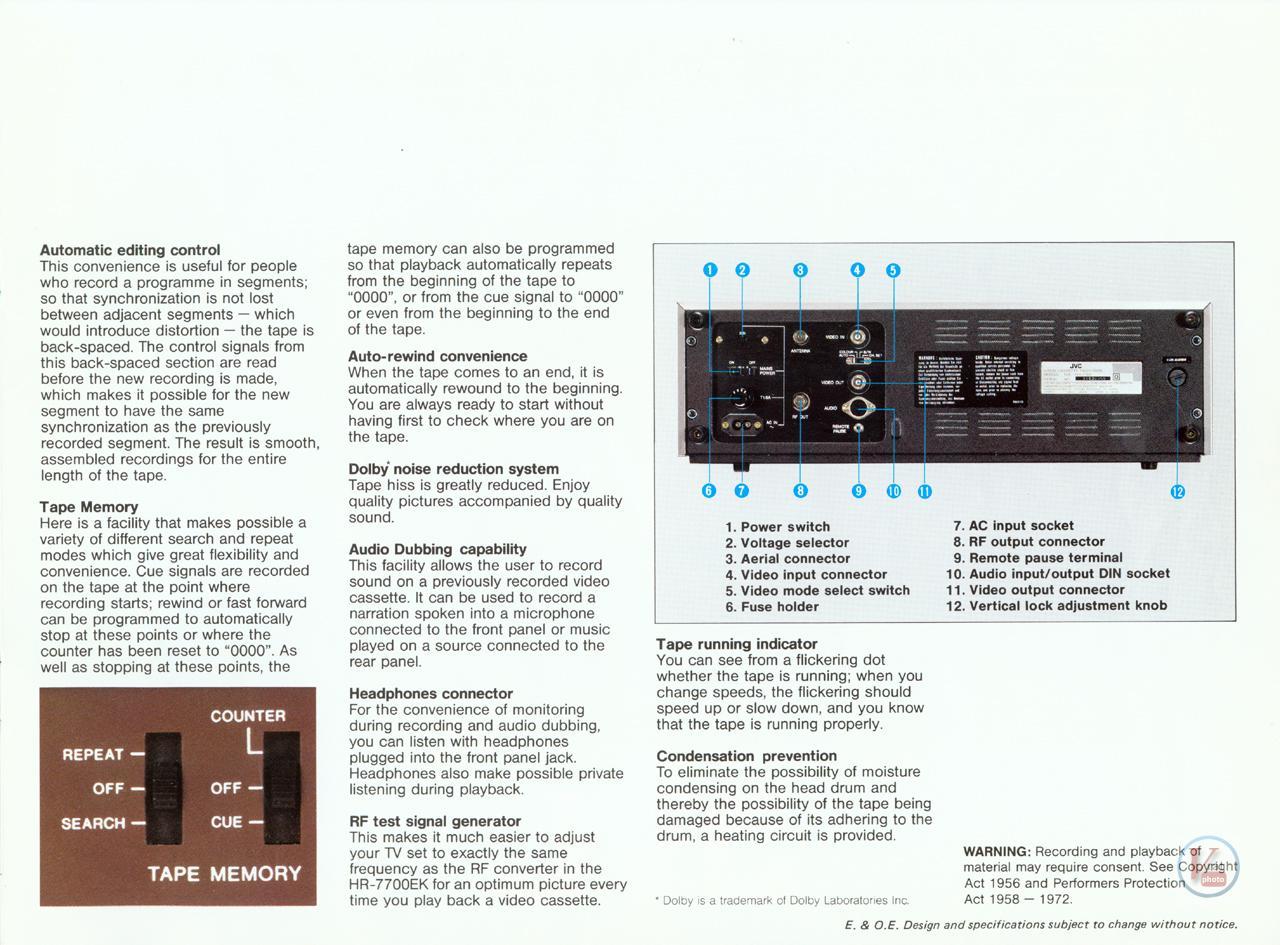 JVC Video Recorders 44