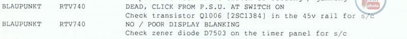 VCR Faults Blaupunkt 4