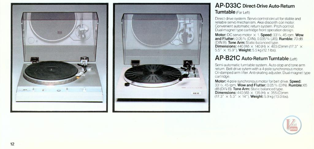 AKAI Turntables 16