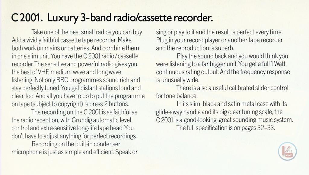Grundig Cassette 42