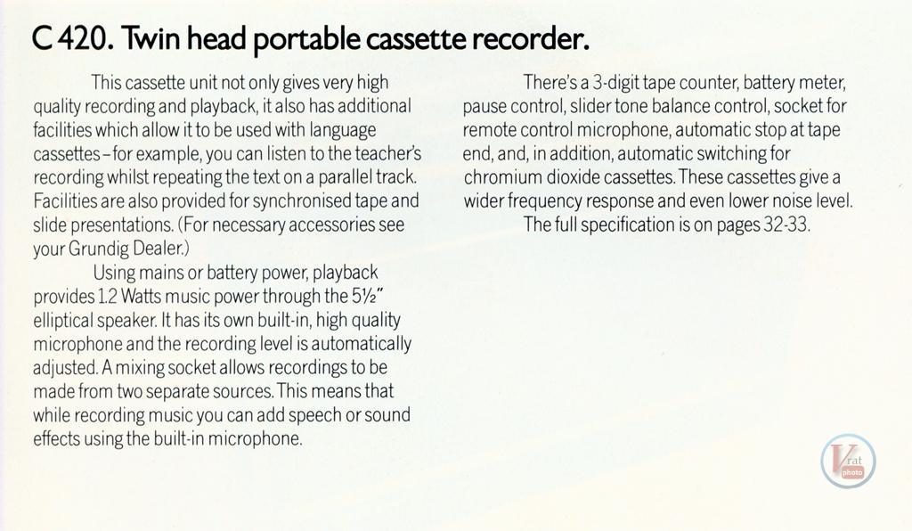 Grundig Cassette 44