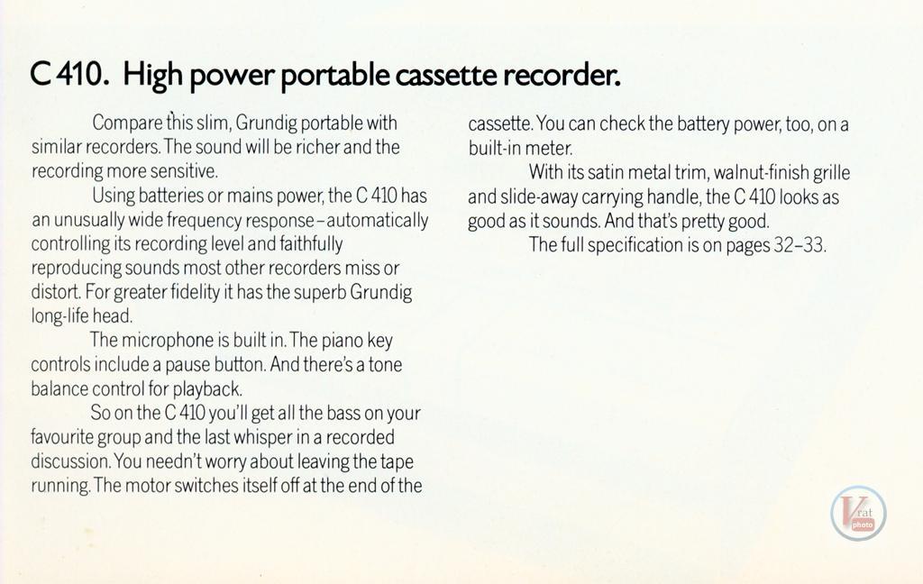 Grundig Cassette 46