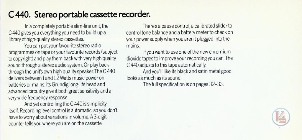 Grundig Cassette 48