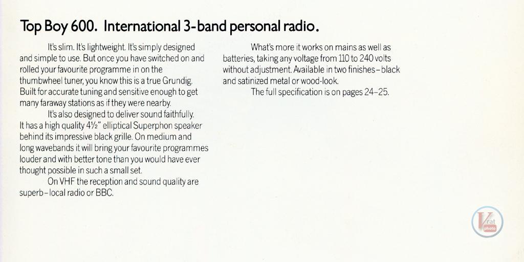 Grundig Radio 69