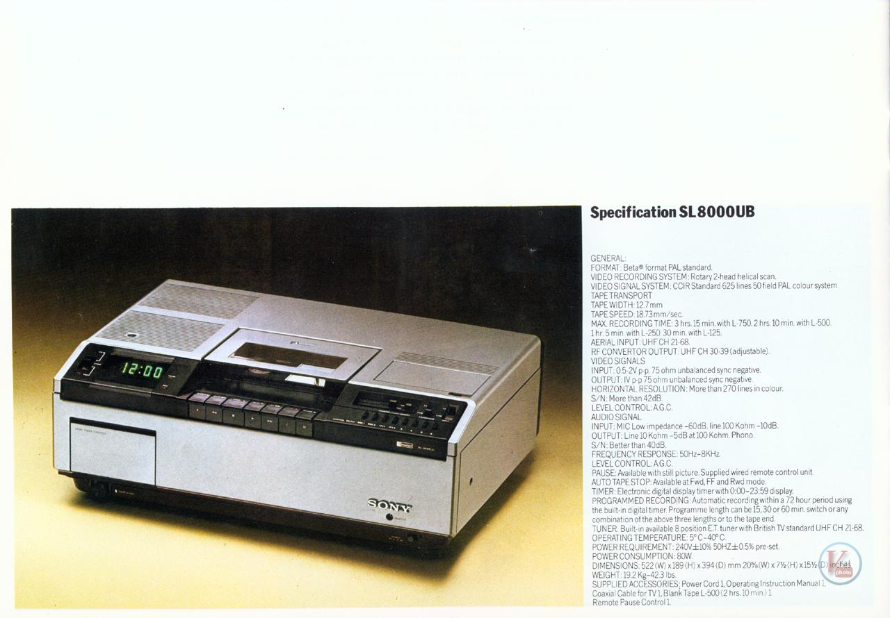 Sony Betamax VCR 11