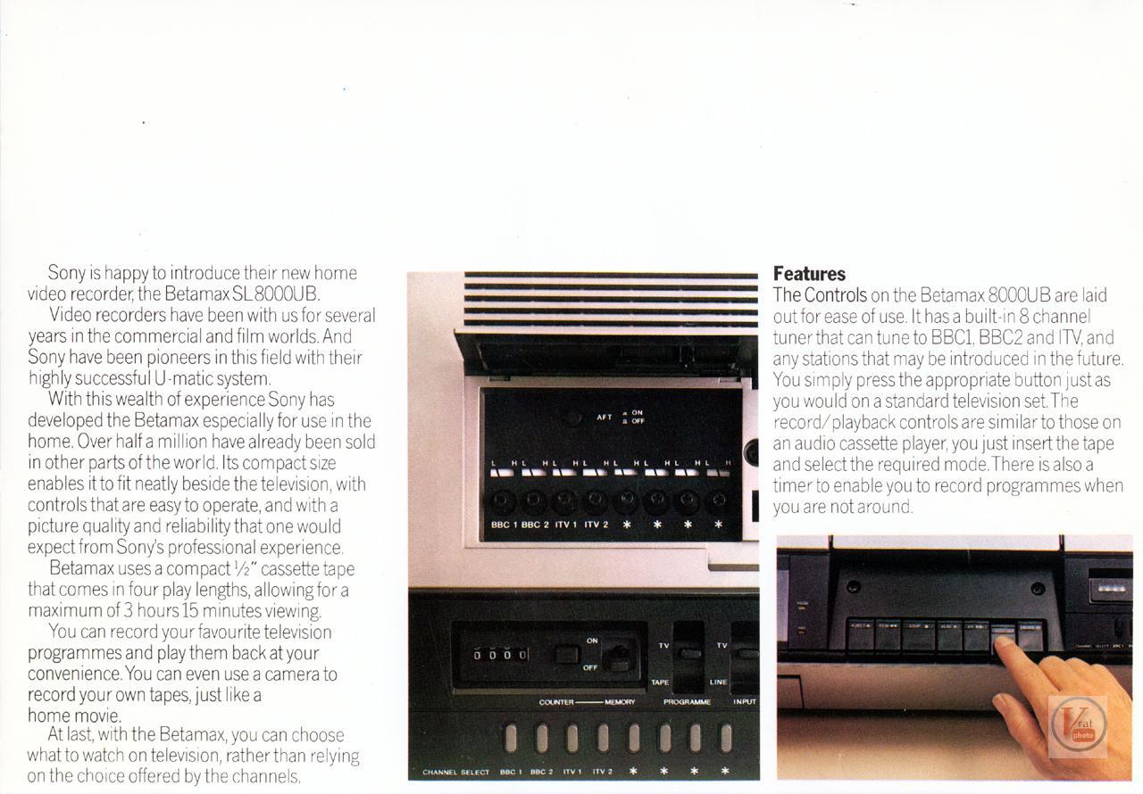 Sony Betamax VCR 25