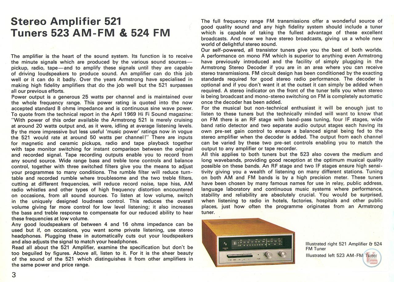 Armstrong 500 Amp/receiver 22
