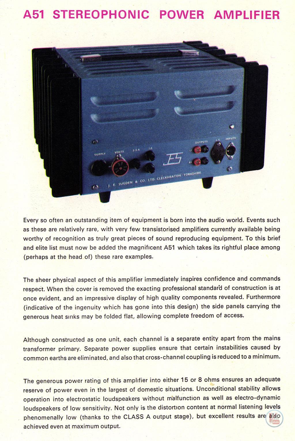 J.E.Sugden  Amplifiers 47