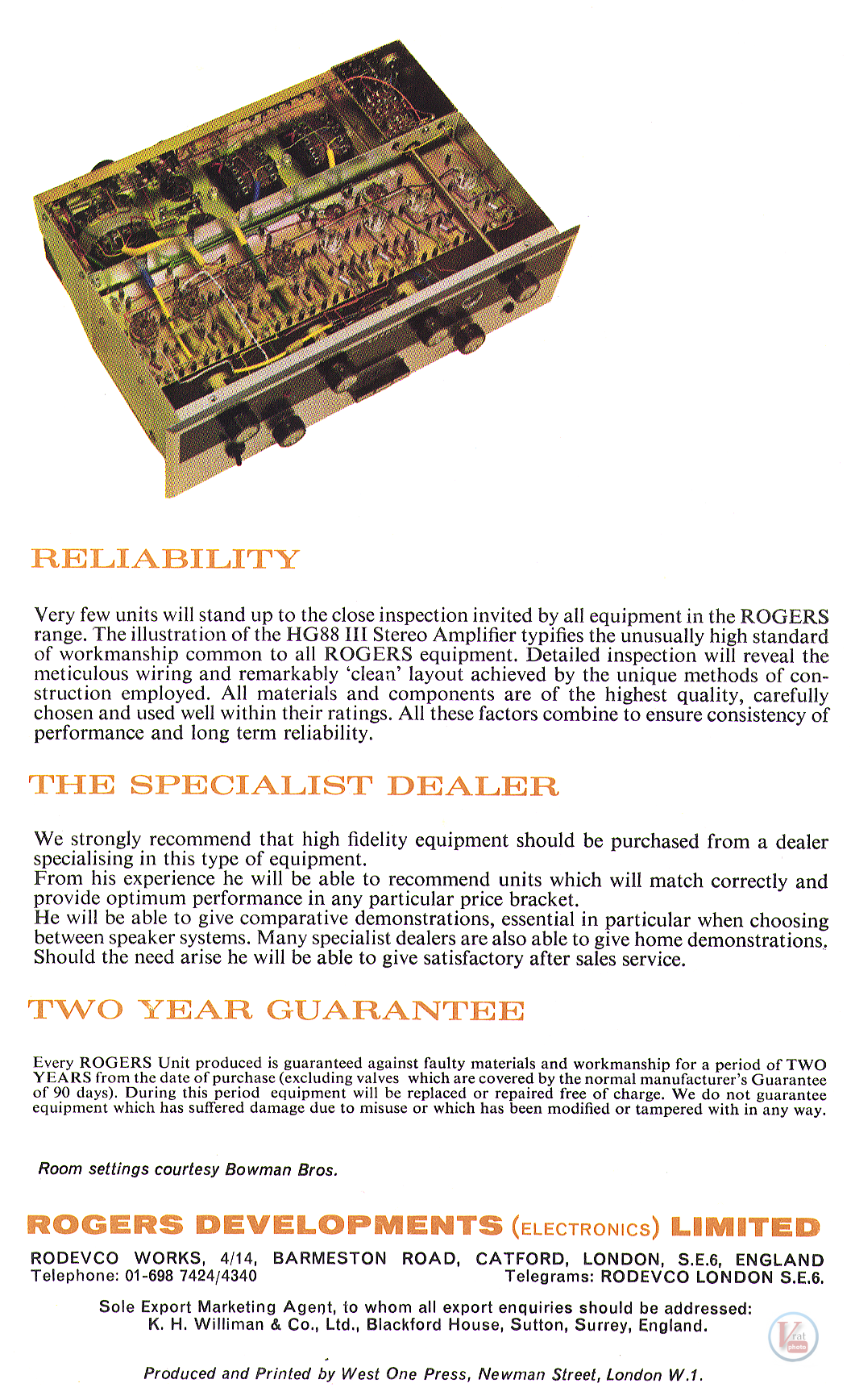 Rogers Amplifier 20