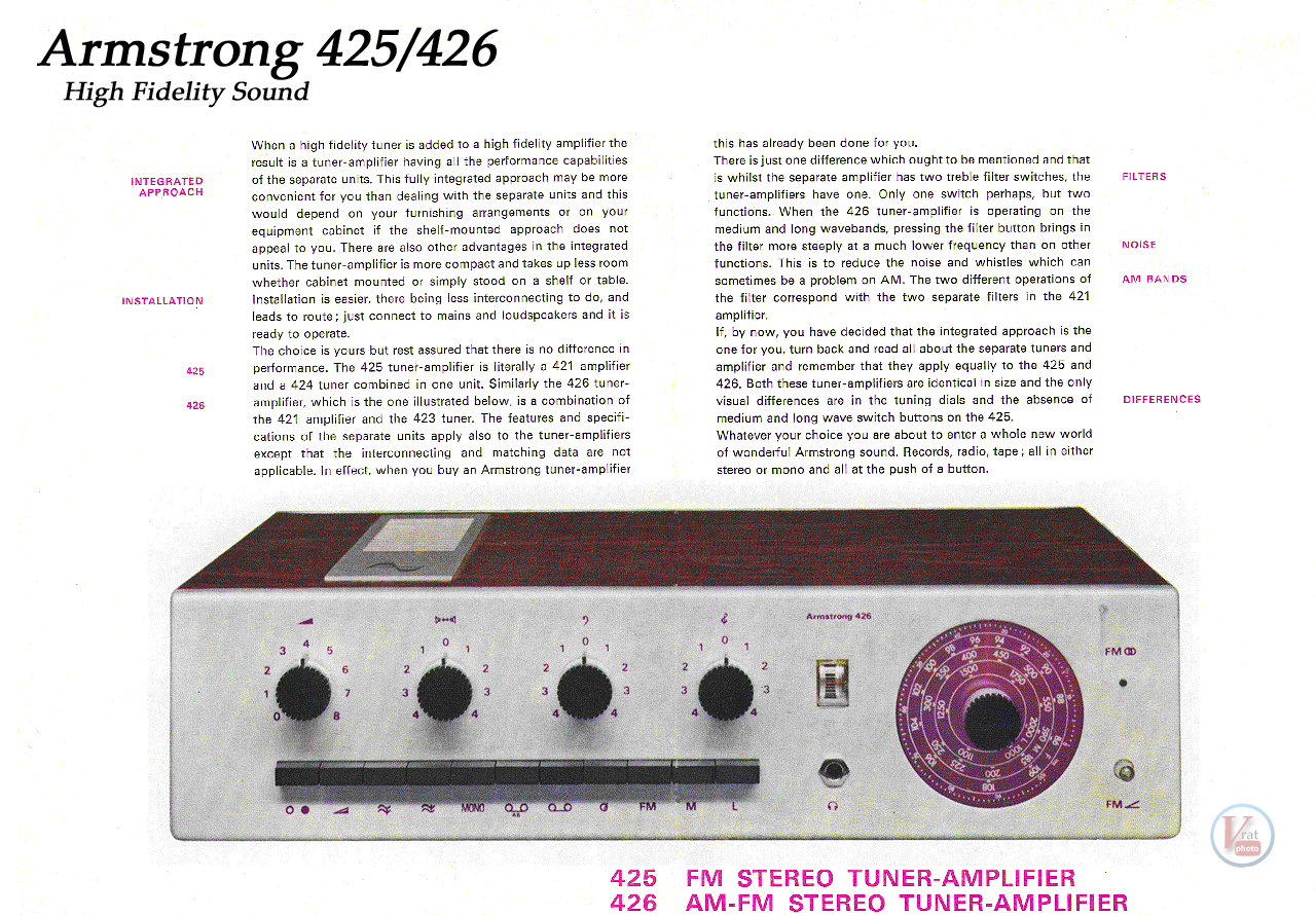 Armstrong 425/426 3