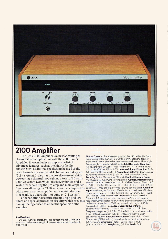 Leak Amplifiers 12