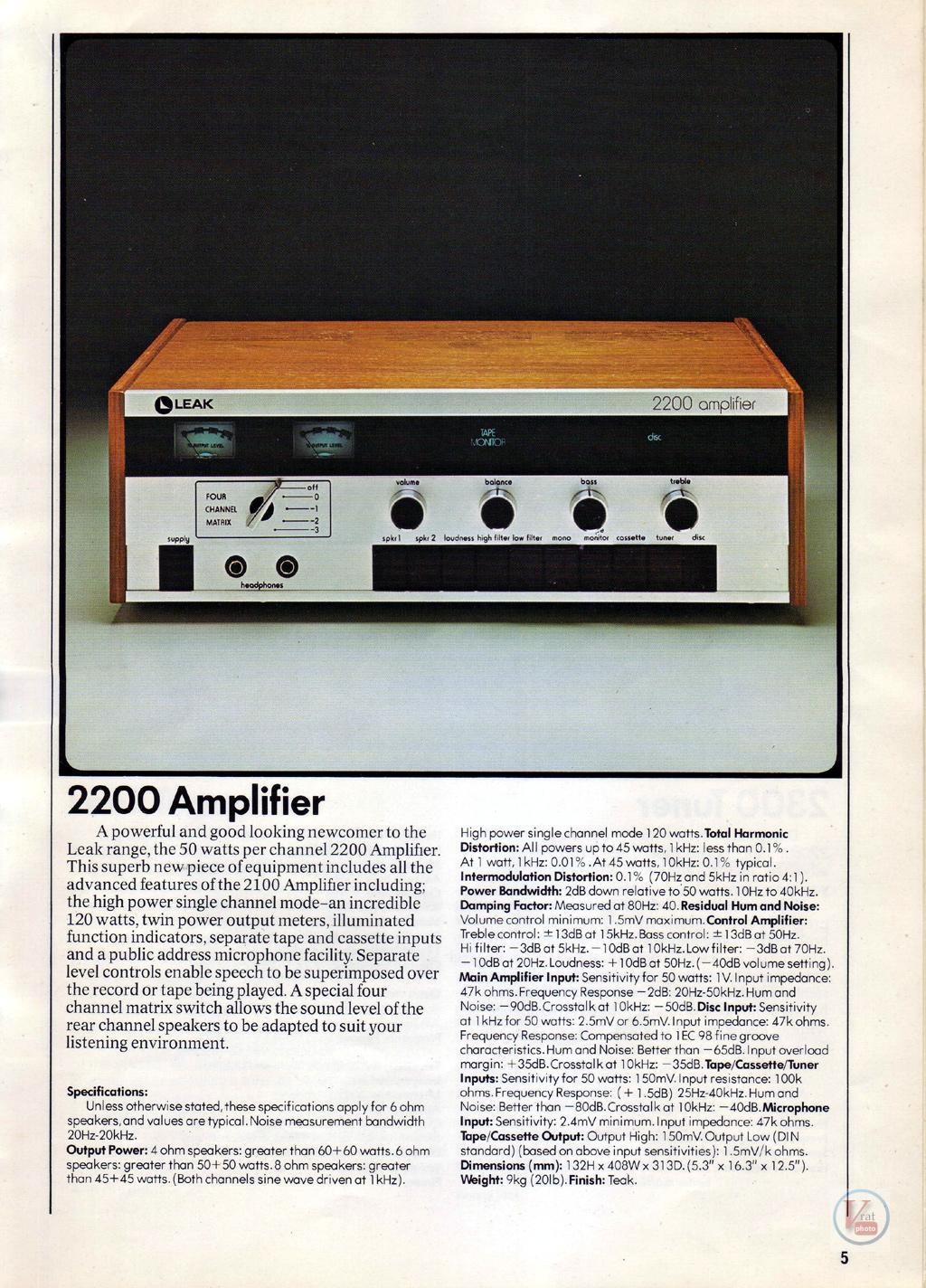 Leak Amplifiers 13