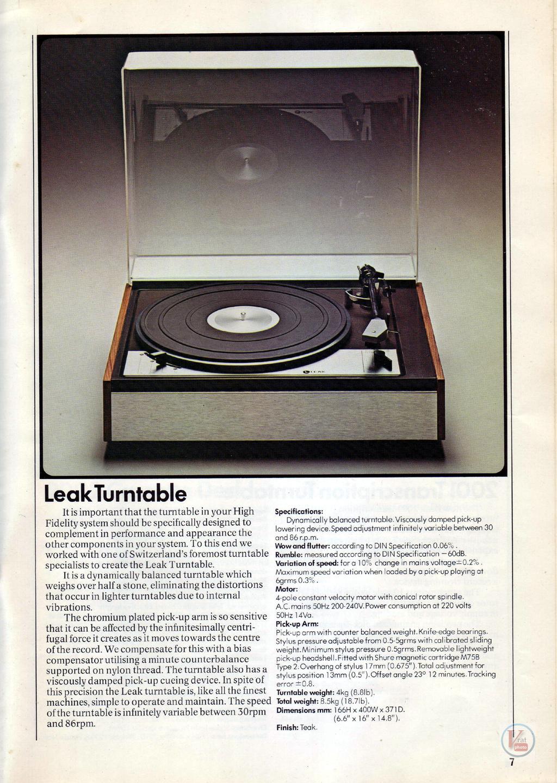 Leak Turntables 11
