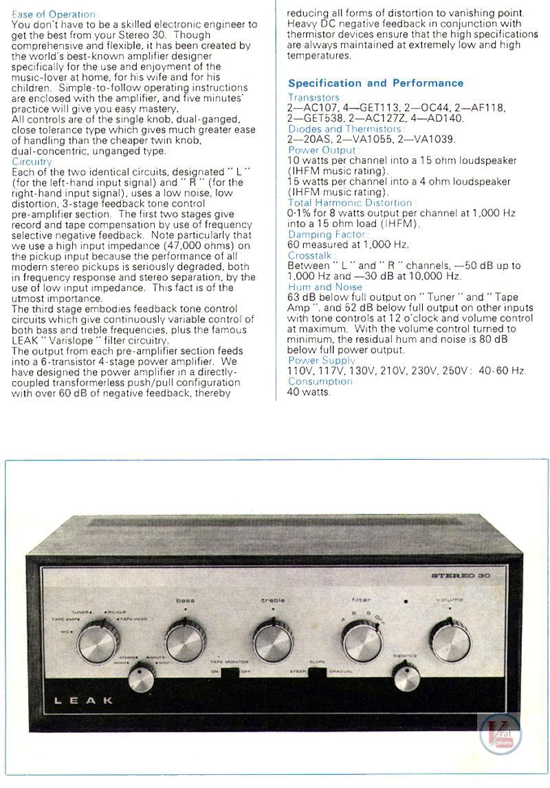 Leak Amplifiers 8