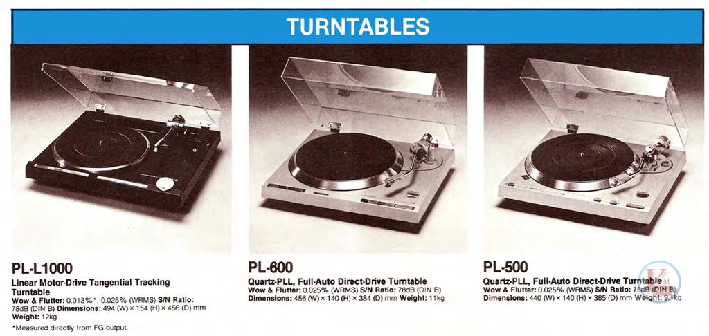 Pioneer Turntables 7