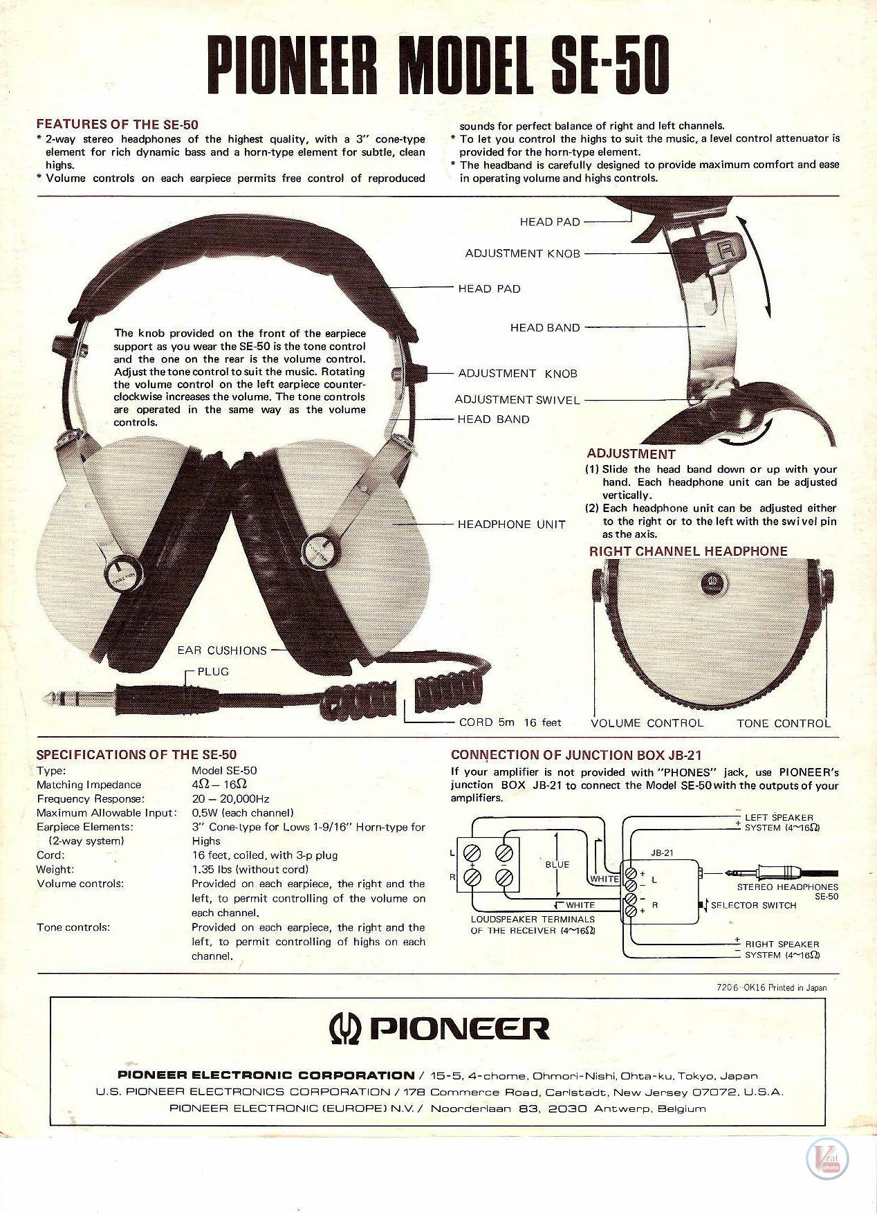 Pioneer Headphones 20