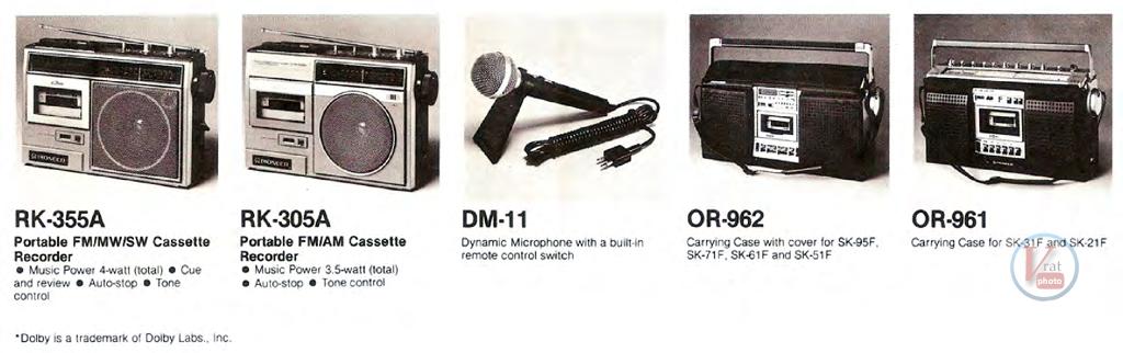 Pioneer Radio Cassette 3