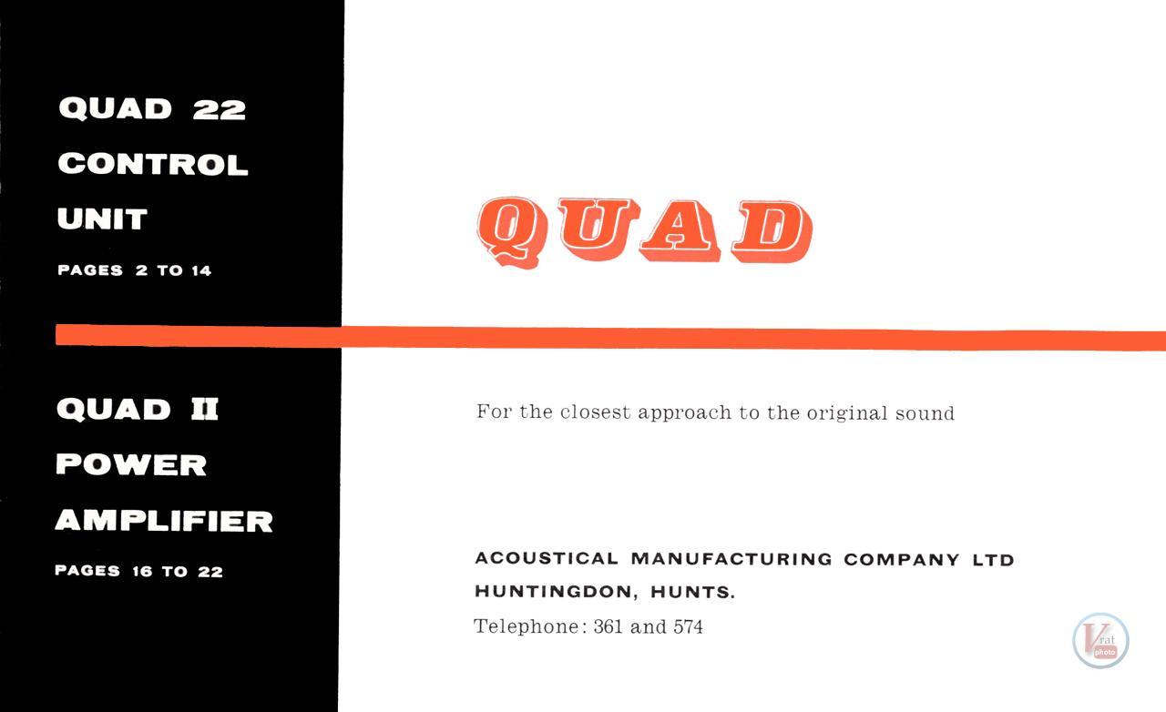 Quad II Amp & 22 CU 54