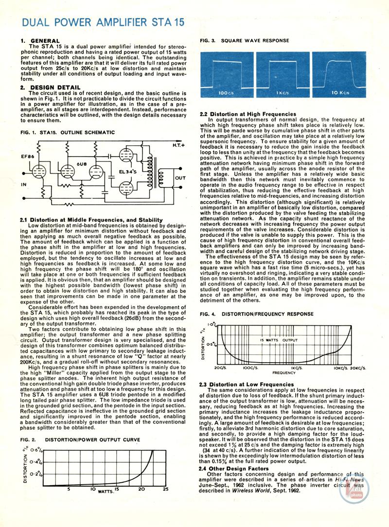 Radford Amplifiers 15