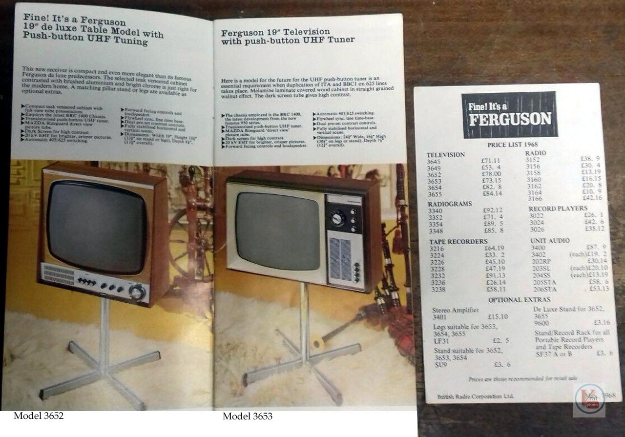 Ferguson B&W TV's 68