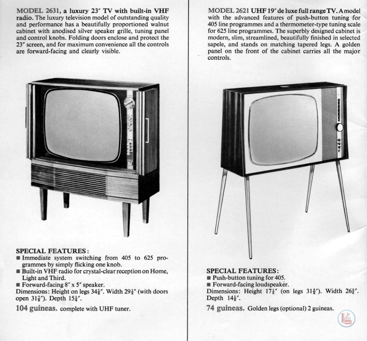 HMV B&W TV's 71
