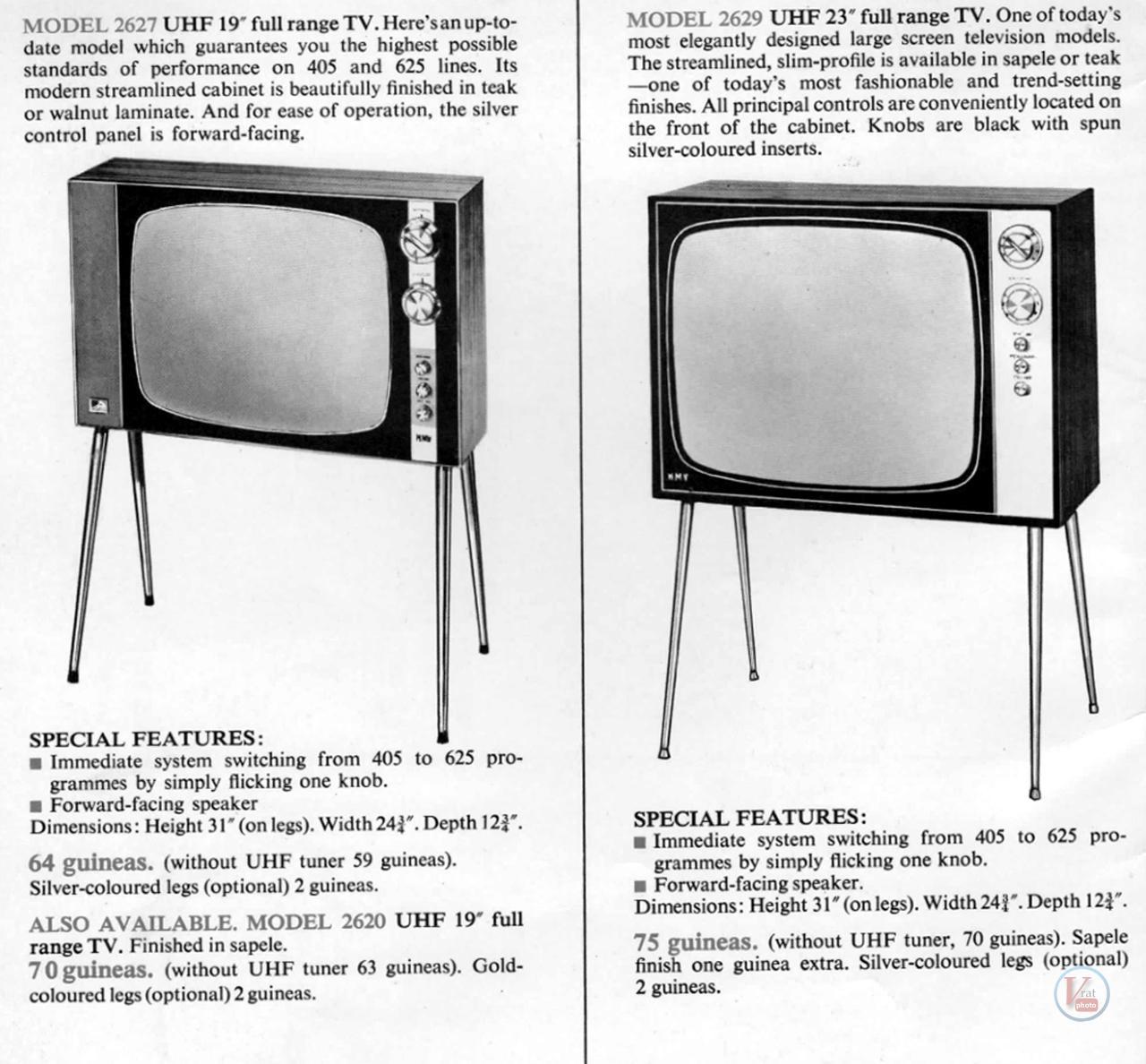 HMV B&W TV's 72