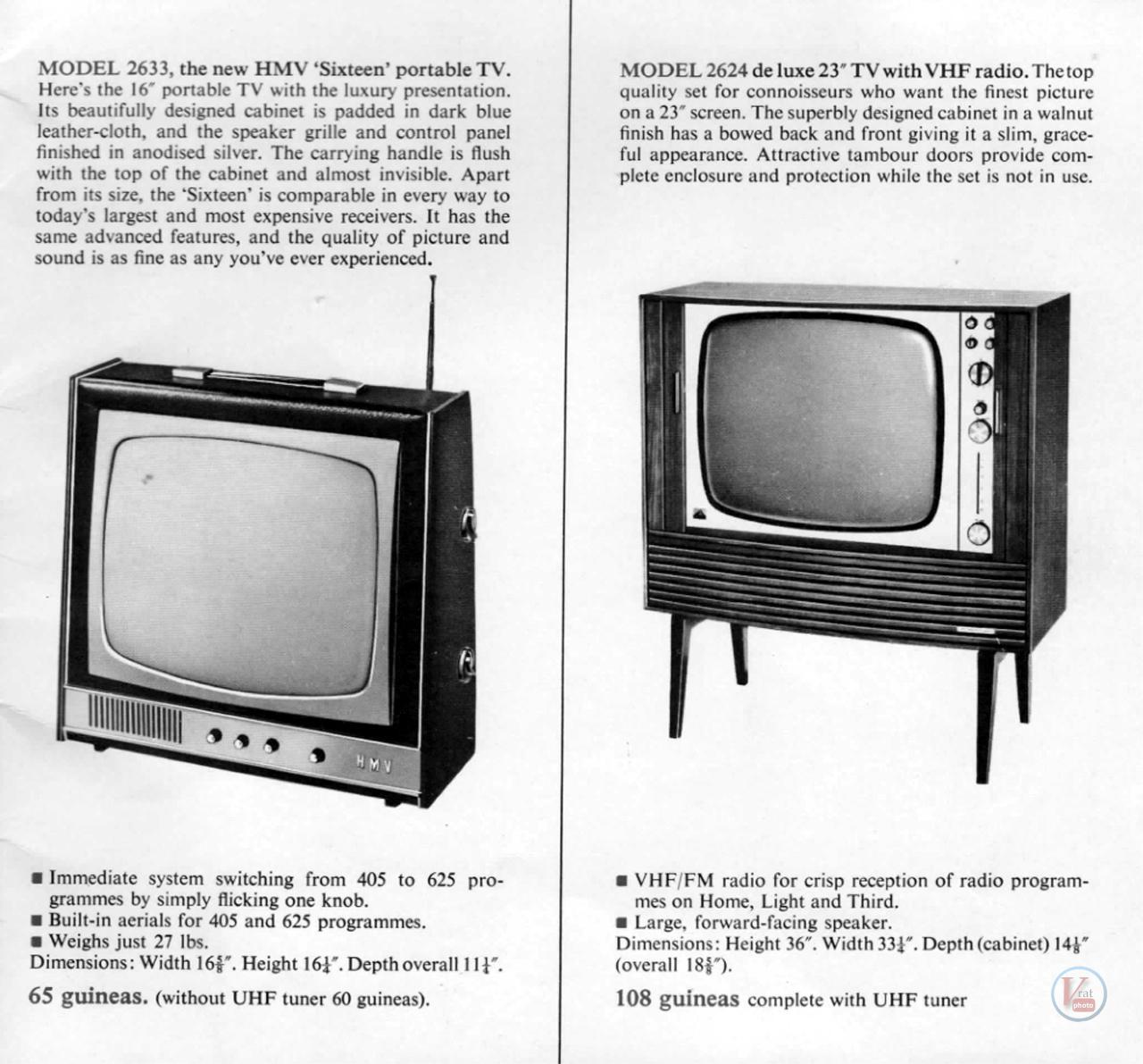 HMV B&W TV's 73