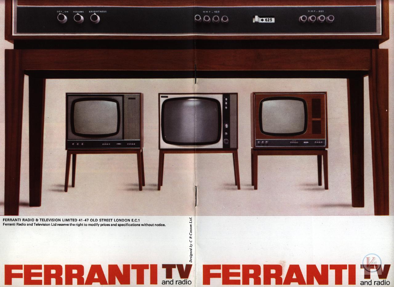 Ferranti B&W TV's 21