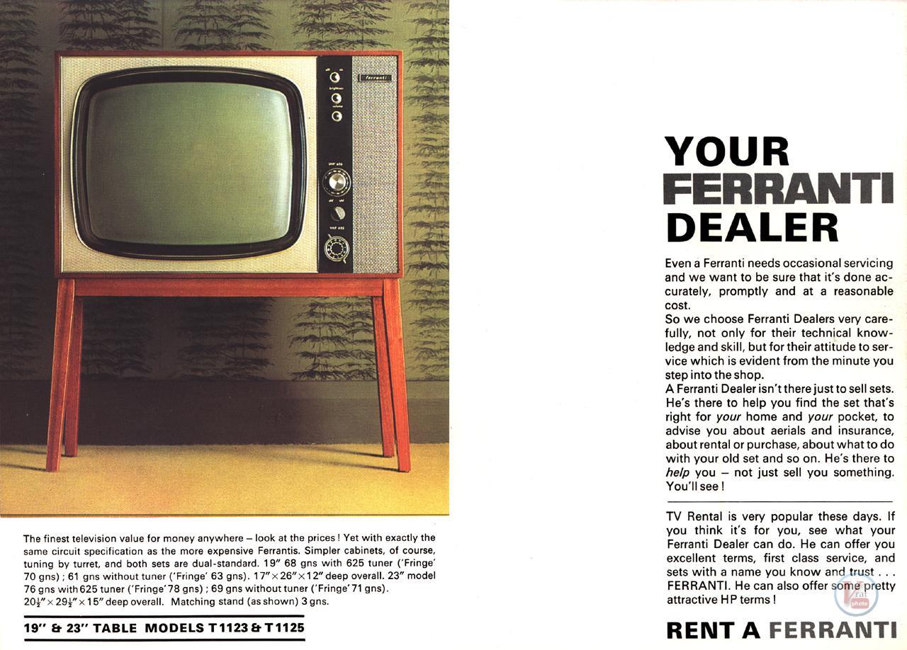 Ferranti B&W TV's 22