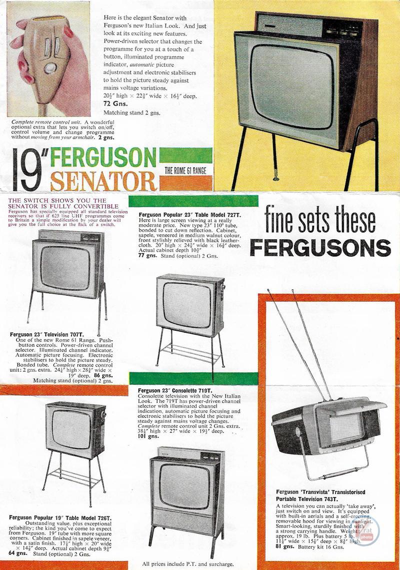 Ferguson B&W TV's 64